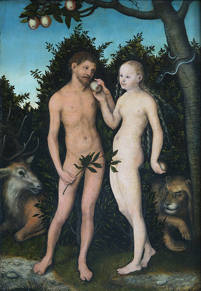 Lucas Cranach Adam and Eve 1533